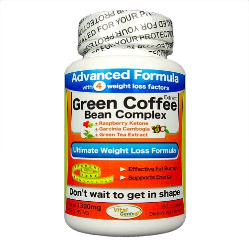 Green Coffee Bean Extract 1300Mg Pure Complex - Only Advanced Complex With Raspberry Ketone, Garcinia Cambogia, And Green Tea Extract Egcg. Full Spectrum Ultimate Complex For Weight Loss And Fat Burn.