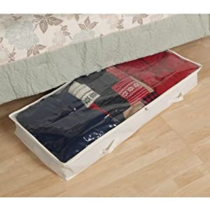 Household Essentials Underbed Storage Chest, Natural Canvas
