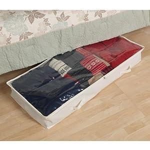Household Essentials Underbed Storage Chest, Natural Canvas