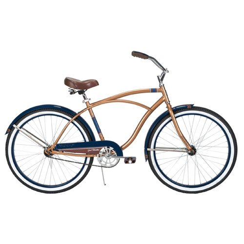 Huffy Men's Good Vibration Cruiser Bike, Champagne, 26-Inch/Medium