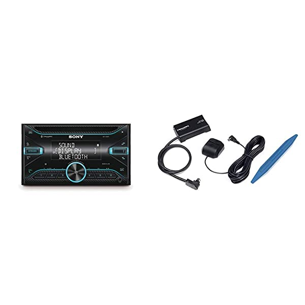 Sony WX920BT 2-DIN CD Receiver with Bluetooth SXV300AZV1 Connect Vehicle Tuner Kit for Satellite Radio with Installation Tool