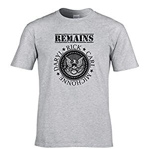 Remains Crest Tshirt Walking Rick Daryl Michonne Zombie Dead Blood Gore Mens Regular Fit Small - 5XLarge Multiple Colours