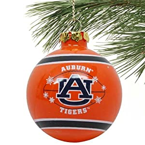 Auburn Tigers 2011 Snowflake Glass Ball Ornament