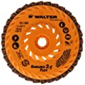 "Walter Enduro-Flex 2 In 1 Abrasive Flap Disc, Type 29, 5/8""-11 Thread Size, Plastic Backing, Aluminum Oxide, 5"" Diameter (Pack of 10)"