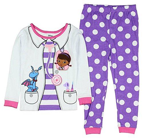 Disney Doc McStuffins Little Girls Toddler Long Sleeve Cotton Pajama Set (3T) (Doc Mcstuffins Clothes compare prices)