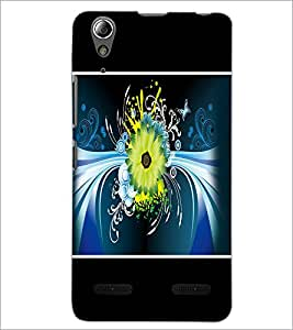 PrintDhaba Floral Pattern D-1393 Back Case Cover for LENOVO A6000 (Multi-Coloured)
