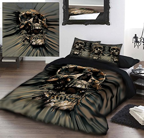 SKULL PIR THRU Kingsize Bed Duvet Pillow &-Set di biancheria da letto con licenza ufficiale David Penfound