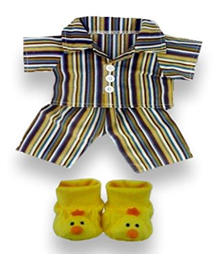 construye-el-guardaropa-de-tus-osos-de-381-cm-conjunto-de-pijama-con-zapatillas-amarillo