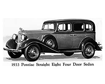 1933 pontiac straight eight four door sedan factory photo for 1933 pontiac 4 door sedan