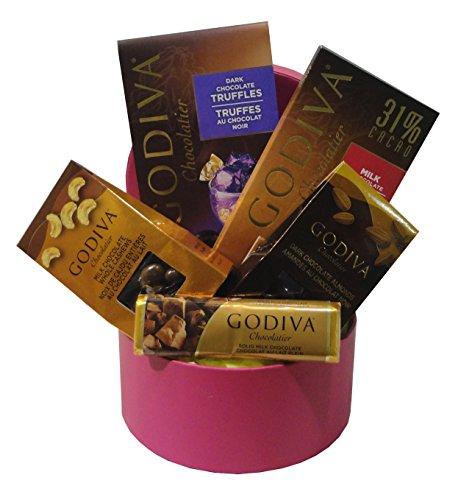 Small Godiva Chocolate Basket Pink