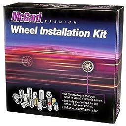 McGard 84454 Chrome Cone Seat Wheel Installation Kit (M12 x 1.25 Thread Size) - For 4 Lug Wheels