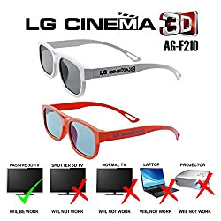 2 LG AG-F210 Circular Polarized Passive 3D Glasses For Lg / Aoc/ Benq / View Sonic Passive 3D Tv
