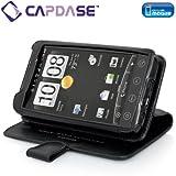 CAPDASE au HTC EVO WiMAX ISW11HT専用 よこ開き Bi-fold ブックタイプ 本革製ケース ブラック WCHCEVO4G-5001