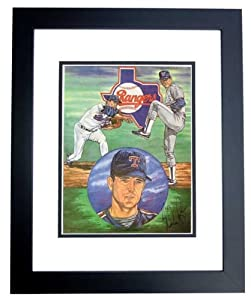 Nolan Ryan Autographed Hand Signed Texas Rangers 11x14 Photo - BLACK CUSTOM FRAME... by Real+Deal+Memorabilia