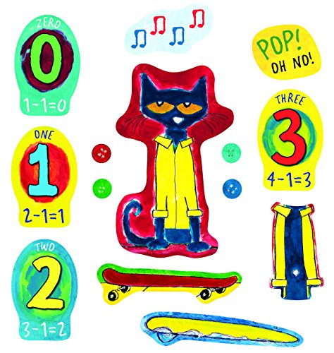Little Folks Visuals LFV22852 Pete The Cat & His Four Groovy - Buttons Flannelboard Set (Pete The Cat Bulletin Board Set compare prices)