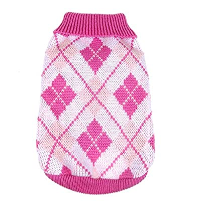 Silvercell Pet Dog Warm Jumper Sweater Clothes Puppy Cat Knitwear Coat Pink