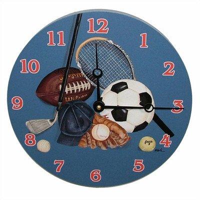 Little Athlete Decorative Wall Clock Size: 18