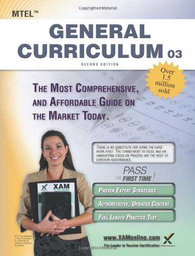 Mtel General Curriculum 03 Teacher Certification Study Guide Test Prep