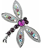 Jodie Rose 'Amethyst' Crystal Dragonfly Brooch