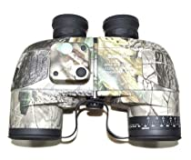Go Again Camo 10x50 Navy Binoculars with Rangefinder and Compass Reticle Illuminant Telescope Waterproof