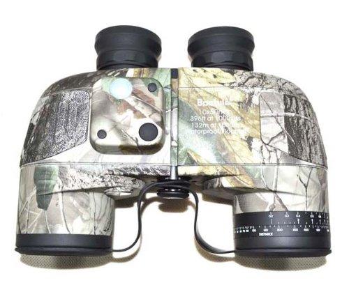 Outdoorguru Tactical Gear Military 10X50 Navy Binoculars With Rangefinder & Compass Waterproof Camouflage Binoculars Telescope