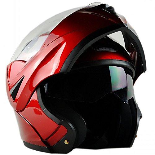 Superior ZRL moto Street Bike casco integrale, rosso, medio