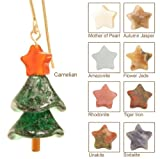 Sparkling Spruce Christmas Tree Earrings - 14 Kt Goldfilled - Autumn Jasper