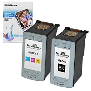 Speedy Inks - Remanufactured Canon PG40 & CL41 Ink Cartridges: 1 Black & 1 Color