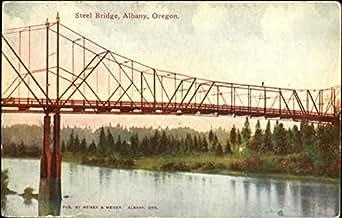 Steel Bridge Albany, Oregon Original Vintage Postcard at Amazon's