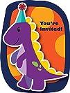 Little Dino Party Invitation Postcard…