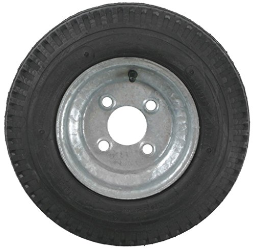 2-Pack Trailer Tires On Galvanized Rims 480-8 4.80-8 4.80 x 8 Load C 4 Lug (4 Lugs Rims And Tires compare prices)