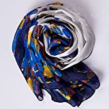 Ecowonder Women's Functional Medium 100% Premium Silk Scarf Pink And Coffee Ribbon