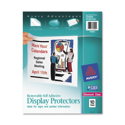 Avery Top-Load Display Sheet Protectors, Letter Size, 10 Per Pack (74404) front-204302