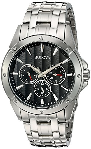 bulova-mens-96c107-black-dial-stainless-steel-watch