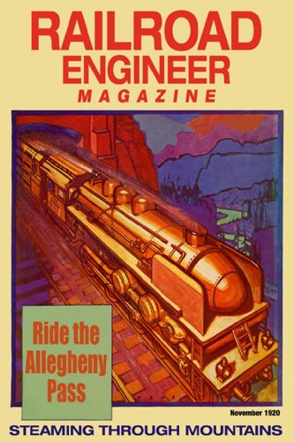 Ride The Allegheny Pass - Steaming Through Mountains - Railroad Engineer 1920, 20X30 Canvas Giclée, Gallery Wrap