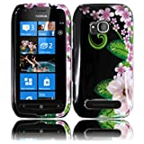 Green Flower Hard Case Cover for Nokia Lumia 710