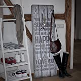 Wandgarderobe Holz - No.RS182 Sunshine, Größe:139cm x 46cm, Design Garderobe Holz Vintage Retro