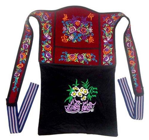 Genuine Mei Tai Baby Carrier 100% Handmade Art Front Back Sling Wrap Podaegi #139 - Free Shipping