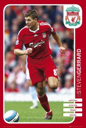 Liverpool - Gerrard Sports Poster Print, 24x36