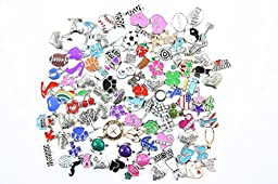 Assorted Floating Charms for Living Glass Lockets (Lot of 50)
