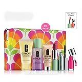 Clinique Gift Set 7 items, inc Foaming Cleanser, Lipstick, Quickliner, Mascara, Eyeshadow Duo, Repairwear Laser Focus Eye Cream, Cosmetics Bag