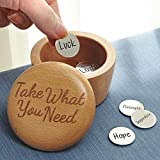Exclusive Take What You Need Wooden Box And Inspirational Coins