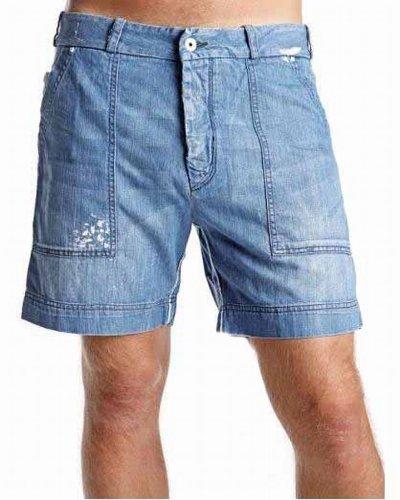 Diesel Jeans Uomo Bermuda Short Pameloshort #30 - cotone, Blu, 100% cotone 100% cotone, Uomo, blu, 30W