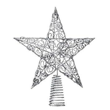 #!Cheap Kurt Adler 10-Inch Silver Star Treetop