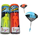 Tangle Free Toy Parachute Men 3 Piece Set! By Toys+ (Multi-Color)