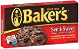 Baker's Semi-Sweet Baking Chocolate Squares, 8-Ounce Boxes (Pack of 4)