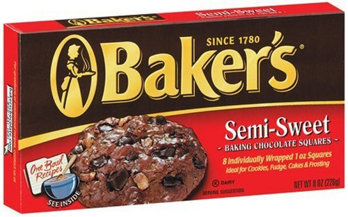 Buy Baker's Semi-Sweet Baking Chocolate Squares, 8-Ounce Boxes (Pack of 12)