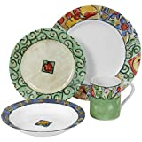 Corelle Impressions 16-Piece Dinnerware Set, Service for 4, Watercolors ~ Corelle Coordinates