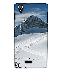 PrintHaat 3D Hard Polycarbonate Designer Back Case Cover for Lava Iris X8 :: Lava iris 800 (mountains covered with snow :: beautiful place to visit :: mesmerizing snow white :: holidays :: enjoyment :: fun :: masti :: live life to the fullest :: in white and sky blue)