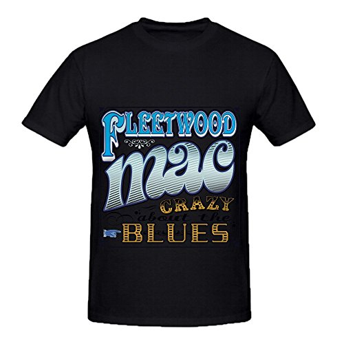Michaner Walosde Fleetwood Mac Crazy About The Blues Tour Greatest Hits Mens Crew Neck Casual Shirts X-Large